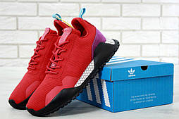 Мужские кроссовки Adidas AF 1.4 Primeknit red/black. Живое фото. Реплика ААА+