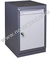 Тумба верстачная с дверью и маленьким ящиком с замками
