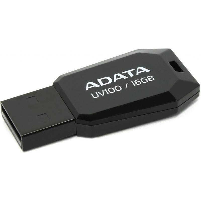 Флеш USB 2.0 ADATA UV100 16GB Черный (AUV100-16G-RBK)