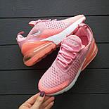 Кроссовки Nike Air Max 270 Pink/White. Топ качество! Живое фото (Реплика ААА+), фото 2