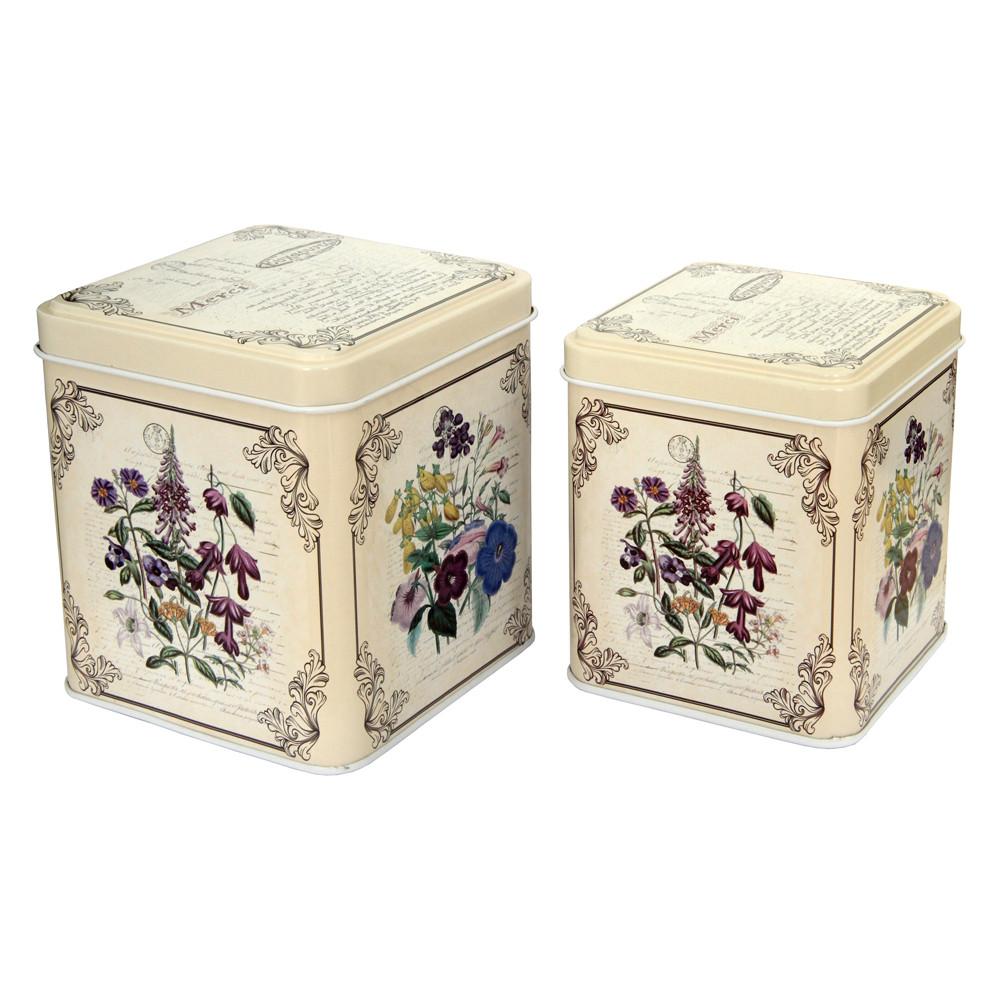 Набор из 2 жестяных банок для сыпучих продуктов Прованс, 200 и 300 г