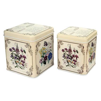 Набор из 2 жестяных банок для сыпучих продуктов Прованс, 200 и 300 г, фото 2