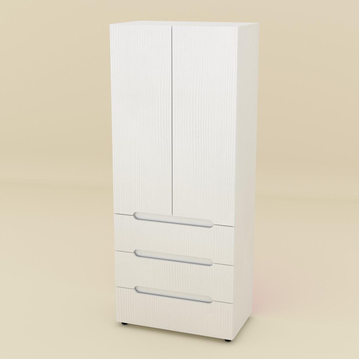 Шкаф книжный МС-22 нимфея альба (белый) Компанит (80х47х195)