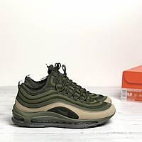 Мужские кроссовки Nike Air Max 97 SE Green Olive(ТОП РЕПЛИКА ААА+), фото 1