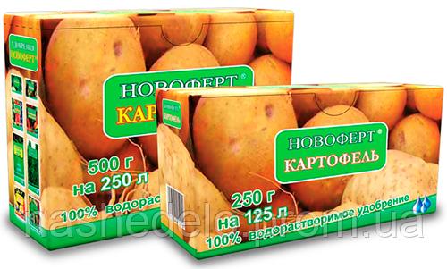 Новоферт Картопля 250 гр (водорозчинне добриво NPK 15-9-28+2MgO+ме)