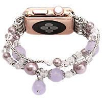 Ремінець ArmorStandart для Apple iWatch 38mm Jewelry ser. Silver/Purple