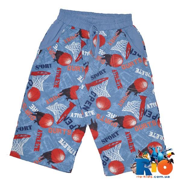 Детские летние шорты, трикотаж, для мальчиков 9-12 лет (4 ед. в уп.)
