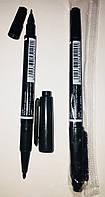 Маркер RX/MO-120-MC-BK двухсторонний черный тонкий 1мм + LINER 0,5мм