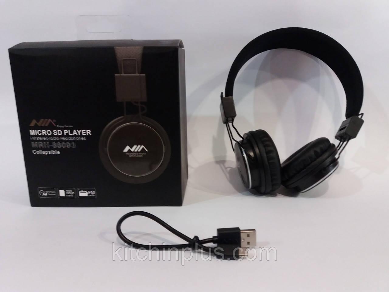 Наушники с MP3 плеером + FM Радио NIA MRH-8809S