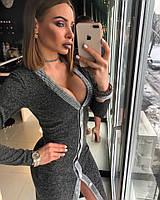 Стильное женское платье на пуговицах , фото 1