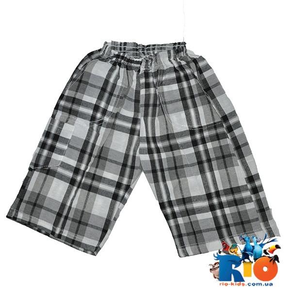 Детские летние шорты в клетку, трикотаж, для мальчиков 3-7 лет (5 ед. в уп.)
