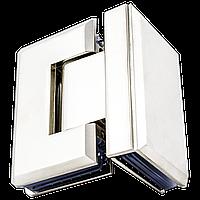 Петля для стеклянной двери под углом 90 градусов с креплением на стекло