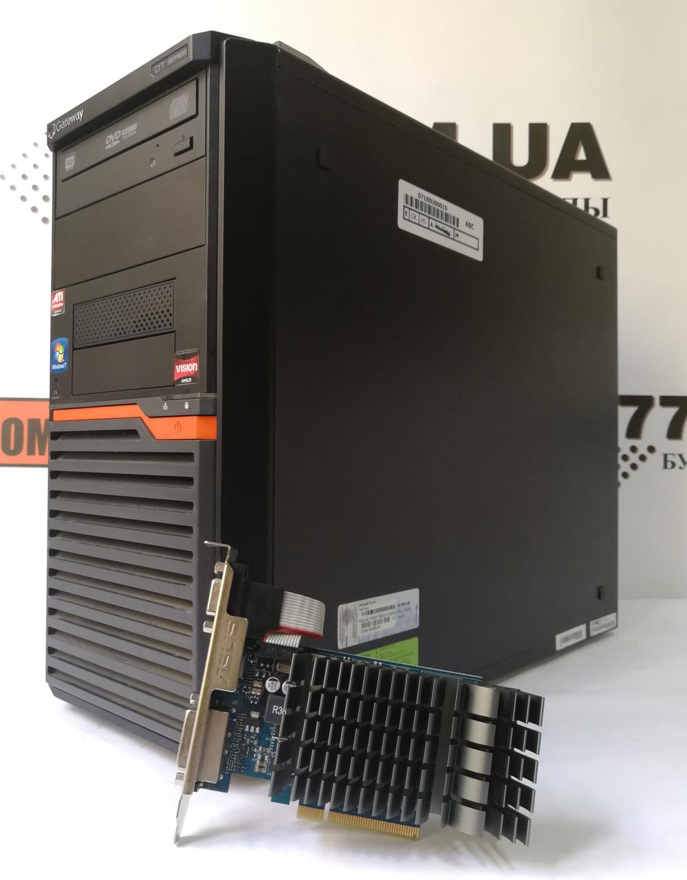 Игровой компьютер Gateway DT55, AMD Athlon II x2 3.0GHz, RAM 4ГБ, HDD 250ГБ, GeForce GT 730 1ГБ