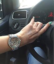 Часы женские Geneva Paidu Swarowski золото и серебро, фото 3
