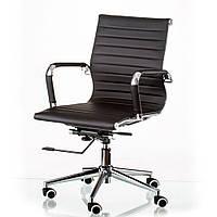 Кресло офисное Solano 5 artleather black, компьютерное, черный
