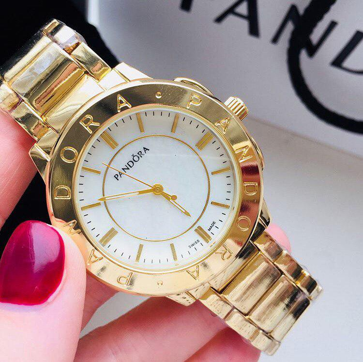 Женские металлические часы Pandora Gold