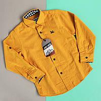 Детская рубашка лен на мальчика Турция р.3-4, 7-8, 11-12 лет