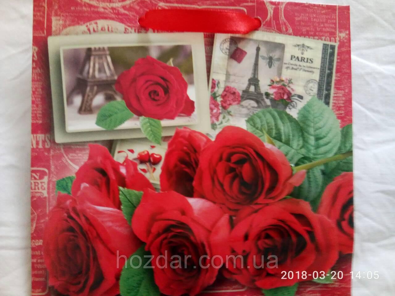 Пакет подарочный бумажный чашка 16х16х7 (22-085)