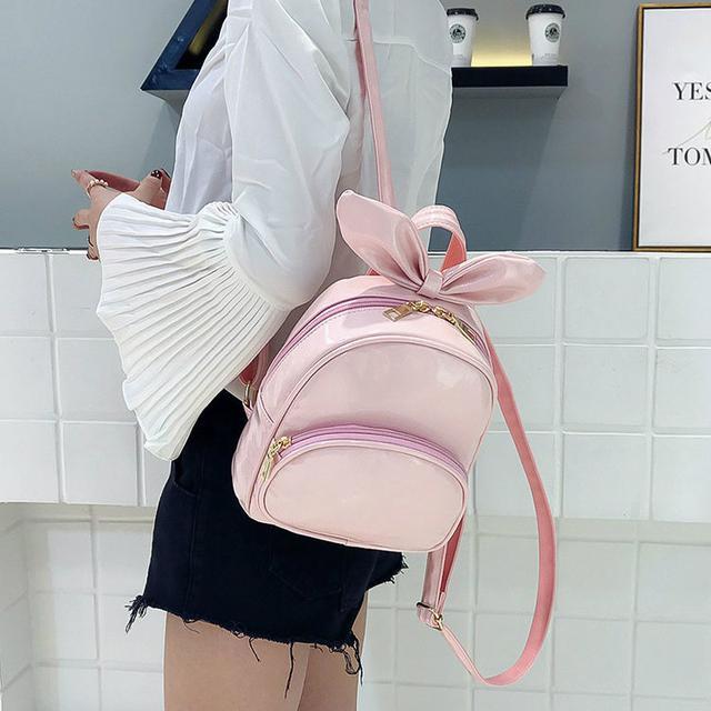 лаковый мини рюкзак