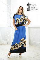 Летнее Нарядное женское Платье размеры 48-56 код 1707-1, фото 1
