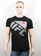 """Футболка """"Reebok UFC"""" UFC18001 черный+серебро, фото 1"""