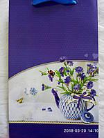 Пакет подарочный бумажный средний 16х25х7 (23-091)