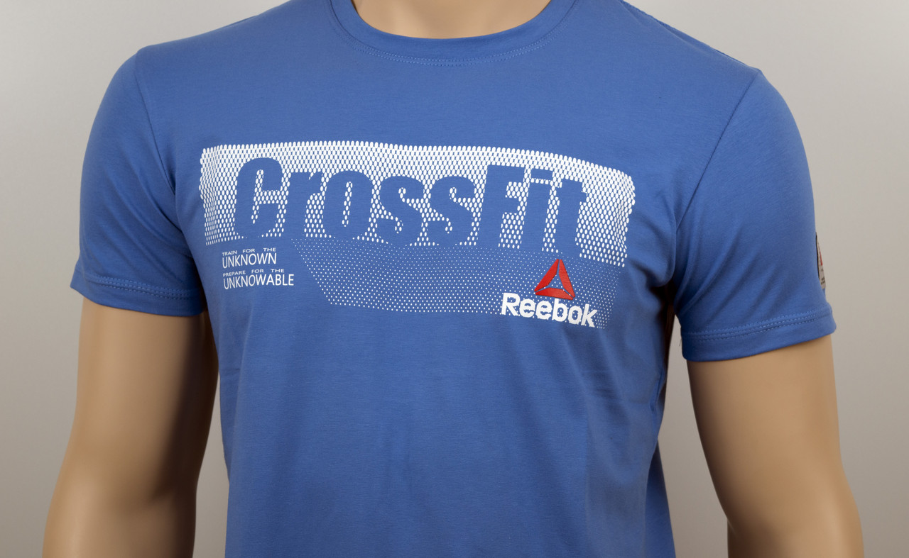 "Мужская футболка ""Reebok Crossfit""  св.синий"