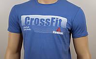 """Мужская футболка """"Reebok Crossfit""""  св.синий, фото 1"""