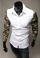 Мужская рубашка Милитари М / 39-40