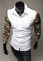 Мужская рубашка Милитари XS / 36