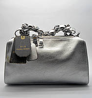 Женская сумочка P&E из натуральной кожи серебристого цвета VCR-060900, фото 1