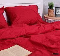 """Комплект постельного белья ТМ """"Ловец снов"""", Однотонный Красный"""