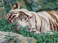"""Схема для полной вышивки бисером - """"Белый тигр"""""""