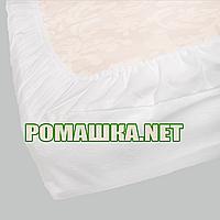 Непромокаемый махровый наматрасник - чехол на детский матрас 120х60 толщиной до 20 см 2959 Белый, фото 1