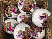 Кукла LOL, Лол, Шар, Сюрприз в яйце, Глиттер