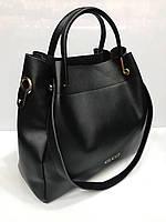 Женская сумка на кожаной основе