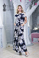 Стильное летнее женское Платье размеры 48-56 код 1704, фото 1