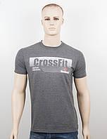 "Мужская футболка ""Reebok Crossfit"" т.серый, фото 1"