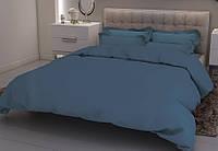 """Комплект постельного белья ТМ """"Ловец снов"""", Однотонный синий"""