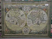 "Гобелен в раме ""Древняя карта мира"" h 121 x 162 см"
