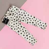 Фирменные белые джинсы для девочки Звезды Philipp Plein размер 1-5, 10, 12 лет 12