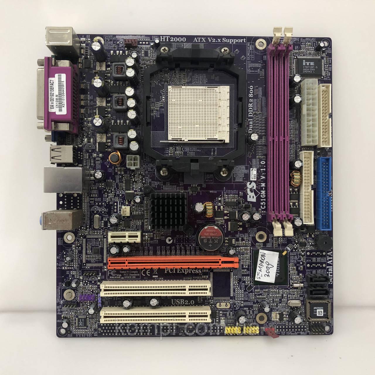 Материнская плата ECS  C51GM-M AM2 DDR2