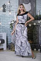 Летнее Платье с декольте размеры 46-54 код 1767