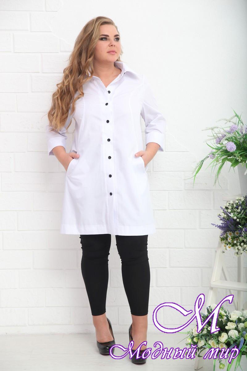 d7c97e84e675 Женская белая рубашка большого размера (р. 48-90) арт. Росси