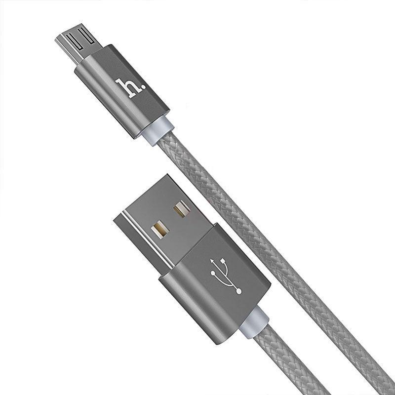 Кабель USB Hoco X2 Micro USB Knitted Charging 1м
