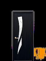 Межкомнатные двери Новый Стиль Камея с рисунком Р3 (венге) экошпон
