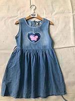 Платье трикотажное на девочек оптом, F&D, 4-12 рр.