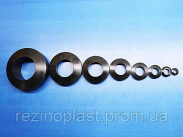 Втулки упругие МУВП резиновые К-1, К-2, К-3, К-4, К-5, К-6, К-7, для муфт упругих втулочно-пальцевых