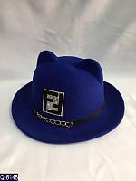 Женская шляпа 56-59 см искусственный фетр