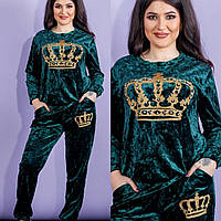 """Костюм женский полубатальный Корона размеры 50-56 (6 цветов) """"GABRIELA"""" купить оптом в Одессе на 7 км, фото 1"""
